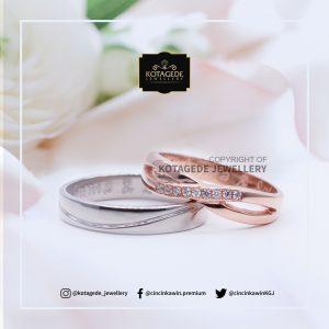 Cincin Kawin Tunangan Couple Platinum Rosegold PT0121RG