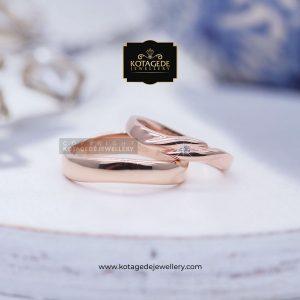 Cincin Kawin Tunangan Couple Unik Rosegold RG0126RG