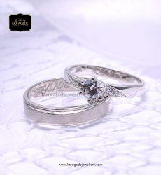 Cincin Kawin Tunangan Diamond Doff Platinum Palladium PT0136PD