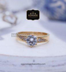 Cincin Kawin Tunangan Diamond Elegant Emas Kuning YG0125