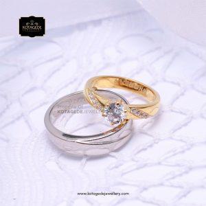 Cincin Kawin Tunangan Diamond Platinum Emas Kuning PT0139YG
