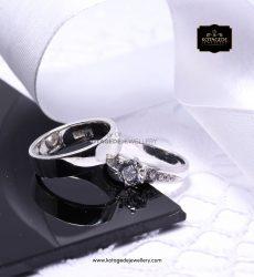 Cincin Kawin Tunangan Diamond Platinum Emas Putih PT0140WG