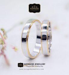 Cincin Kawin Tunangan Elegant Platinum Emas Putih PT0135WG