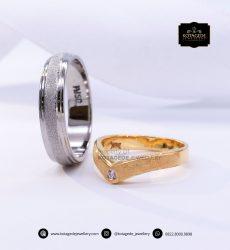 Cincin Kawin Tunangan Emas Kuning Palladium YG0147PD