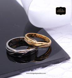Cincin Kawin Tunangan Palladium Emas Kuning PD0141YG