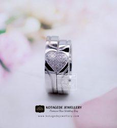 Cincin Kawin Tunangan Palladium Emas Putih PD0134WG
