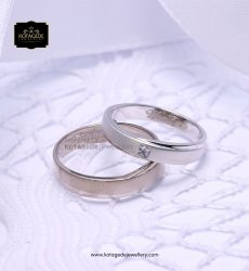 Cincin Kawin Tunangan Simple Palladium Emas Putih PD0138WG