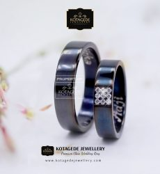 Cincin Kawin Tunangan Simple Palladium Rodium Black PD0133PD