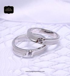 Cincin Kawin Tunangan Couple Palladium Platinum PD0148PT