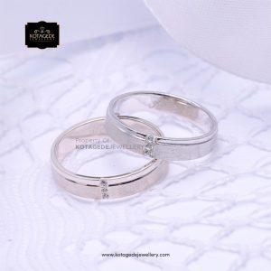 Cincin Kawin Tunangan Couple Platinum Emas Putih PT0149WG