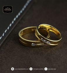 Cincin Kawin Tunangan Emas Kuning Elegant YG0164YG