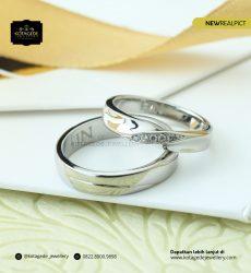 Cincin Kawin Tunangan Emas Putih Couple WG0160WG
