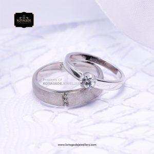 Cincin Kawin Tunangan Palladium Emas Putih PD0151WG