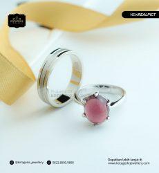 Cincin Kawin Tunangan Pink Diamond Palladium Platinum PD0171PT