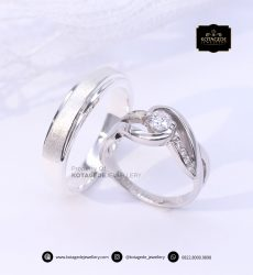 Cincin Kawin Tunangan Platinum Diamond PT0155PT