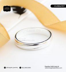 Cincin Kawin Tunangan Emas Putih Premium Elegant WG0184