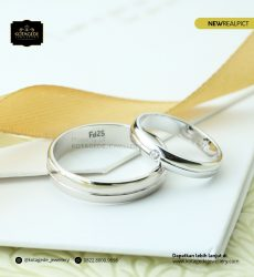 Cincin Kawin Tunangan Palladium Couple PD0190PD
