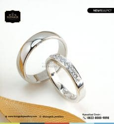 Cincin Kawin Tunangan Platinum Couple Elegant PT0202PT