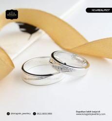 Cincin Kawin Tunangan Platinum Elegant Couple PT0186PT