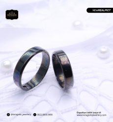 Cincin Kawin Tunangan Platinum Rhodium Black PT0199PT