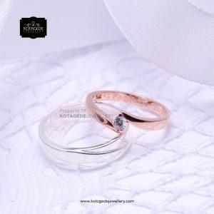 Cincin Kawin Tunangan Platinum Rosegold Diamond PT0183RG