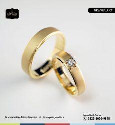Cincin Kawin Tunangan Emas Kuning Doff Couple YG0236YG