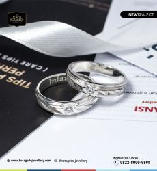 Cincin Kawin Tunangan Palladium Couple Elegant PD0240PD