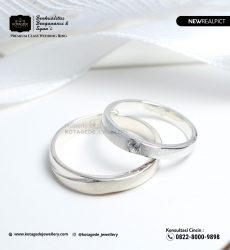 Cincin Kawin Tunangan Palladium Couple PD0212PD