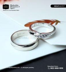 Cincin KawiCincin Kawin Tunangan Palladium Emas Putih Premium PD0218WGn Tunangan Palladium Emas Putih Premium PD0218WG
