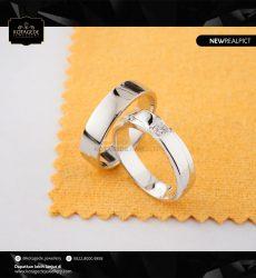 Cincin Kawin Tunangan Palladium Emas Putih Premium PD0232WG