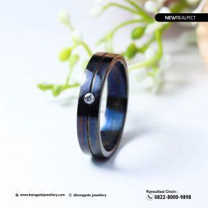 Cincin Kawin Tunangan Palladium Rhodium Black PT0222