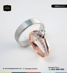 Cincin Kawin Tunangan Palladium Rose Gold PD0238RG