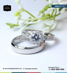 Cincin Kawin Tunangan Platinum Diamond PT0230PT