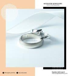 Cincin Kawin Tunangan Platinum Elegant PT0247PT