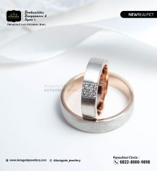 Cincin Kawin Tunangan Rose Gold Doff Couple RG0215RG