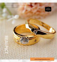 Cincin Kawin Tunangan Emas Kuning Couple YG0252YG