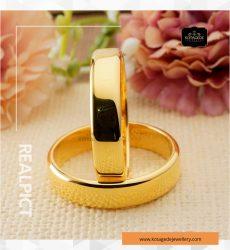 Cincin Kawin Tunangan Emas Kuning Polos Couple YG0260YG