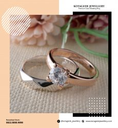 Cincin Kawin Tunangan Palladium Rose Gold PD0250RG