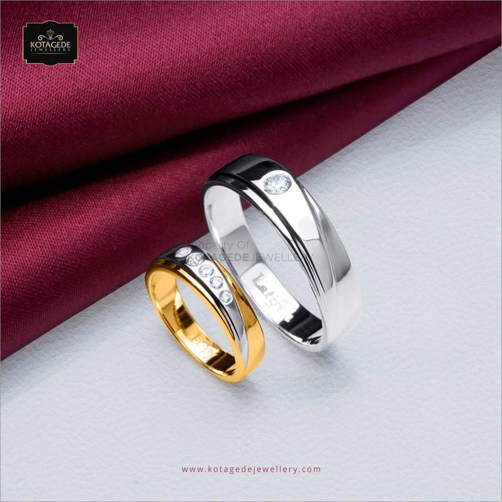 Cincin Kawin Tunangan Platidium Emas Kuning PTD00298YG
