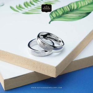 Cincin Kawin Tunangan Palladium Emas Putih PD0301WG