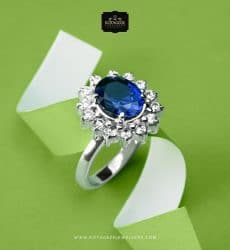 Cincin-Kawin-Tunangan-Eleagan-dengan-Blue-Solitaire-WG0303