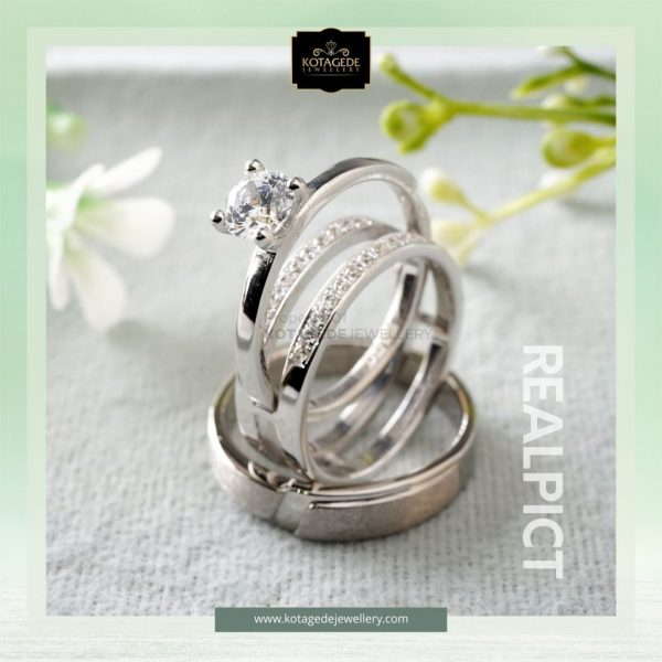 cincin nikah elegan trinity