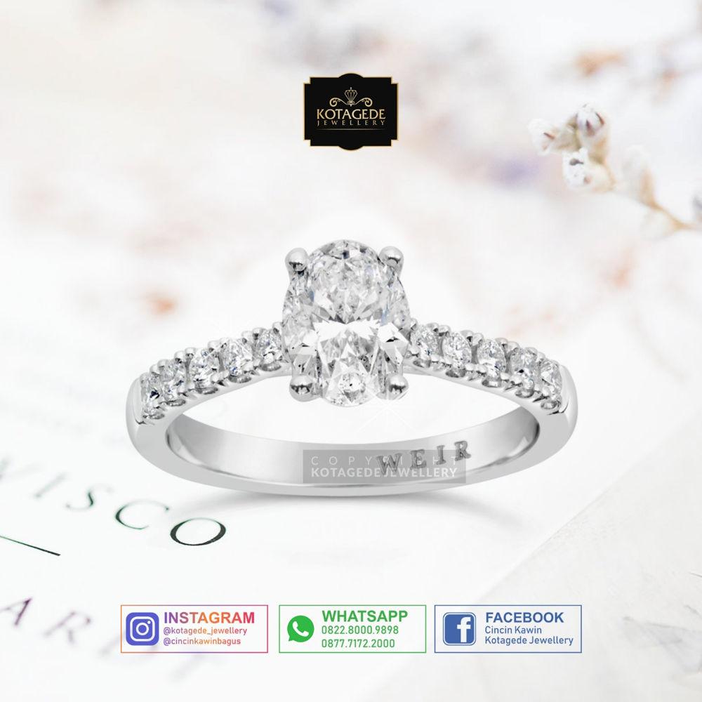 Jual Cincin Berlian Emas Putih Free Berlian Eropa Free Ongkir