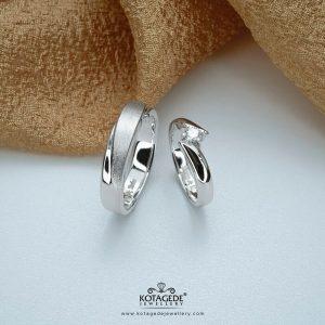 Cincin Kawin Emas Putih Couple Elegan WG0326WG