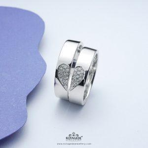 Cincin Kawin Tunangan Platidium Couple Promises PTD0344PD