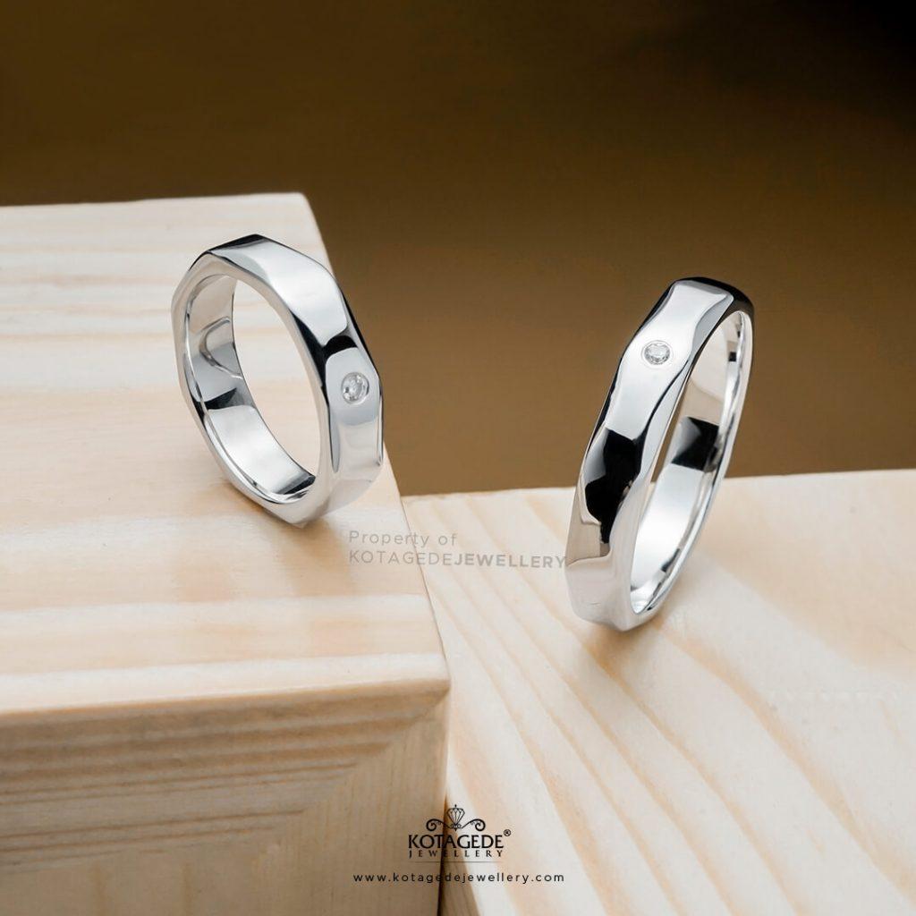 Cincin Kawin Tunangan Couple Palladium Emas Putih pd0375wg