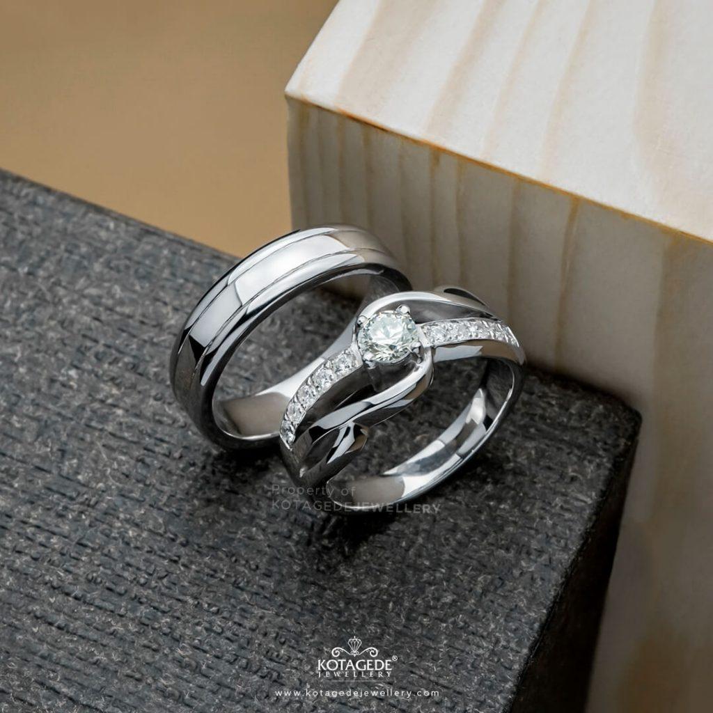 Cincin Kawin Tunangan Elegan PD0376WG