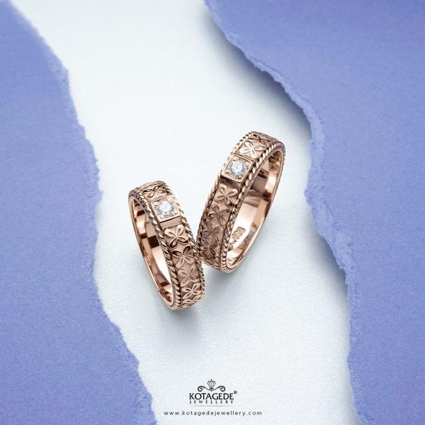 Cincin Kawin Tunangan Emas Batik Ukir RG0347RG
