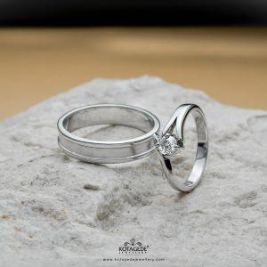 Cincin Kawin Tunangan Palladium Emas Putih PD0371WG
