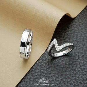 Cincin Kawin Tunangan Zigzag Style PTD0361WG
